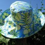 Wide Brim Sunhat In Blue G..