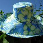 Wide Brim Sunhat in Blue Gr..